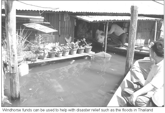 Windhorse has helped with flood relief in Thailand