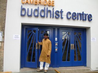 The entrance to the Cambridge Buddhist Centre