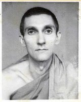 A passport photograph of Sangharakshita, from a long time ago! (c) ClearVision Archive
