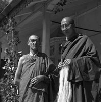 Sangharakshita with the Dalai Lama in India in the 1960's