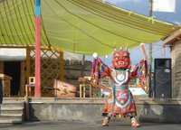 A traditional Mongolian buddhbist dancer