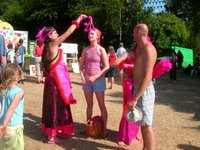 The Chakra Cleansing ladies leave a festival-goer in tip-top shape