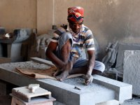 carvers in India create the LBC's new fountain
