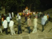 full-moon walking meditation at the Mahavihara in Pune