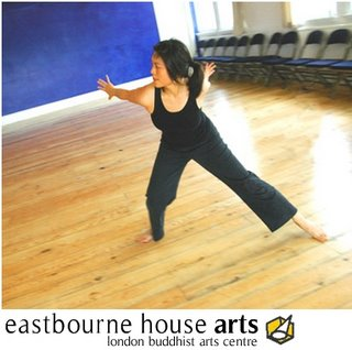 A dancer practices at the FWBO's London Buddhist Arts Centre in East London