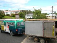 Loading up the Buddhafield New Zealand van before a festival