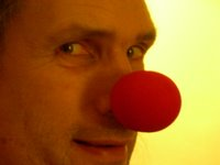 FWBO News' editor-in-chief, with a very red nose!