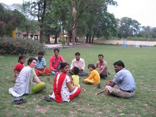 Ann Dennehy and friends at the Indian Buddhist Youth conference in India in 2007