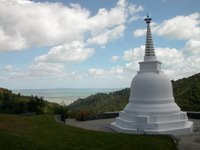 The stupa at Sudarshanaloka, the FWBO's reatreat centre in the Coromandel mountains, New Zealand