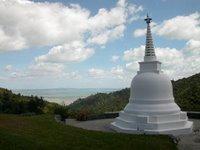 The stupa at Sudarshanaloka, the FWBO's reatreat centre in the Coromandel mountains, New Zealand