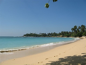 Unawatuna Beach in Sri Lanka, home of the FWBO's Sri Lanka centre