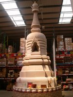 The great stupa in the centre of Uddiyana, the Windhorse warehouse
