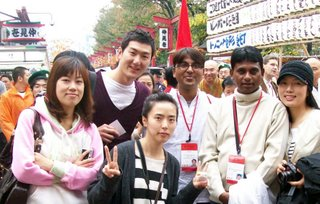Yashosagar and some new friends in Japan