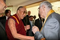 Sangharakshita meets the Dalai Lama at Lambeth Palace