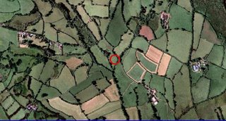An aerial photo of Buddhafield's new land at Frog Mill, in the Dartmoor National Park